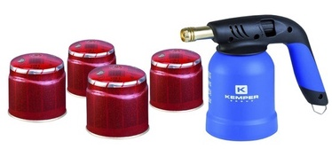 BLOW TORCH KEMPER+4 GAS CARTRIDGES