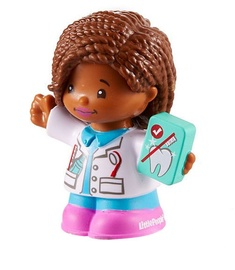 Fisher Price Little People Figure Dentist Audrey DTL65