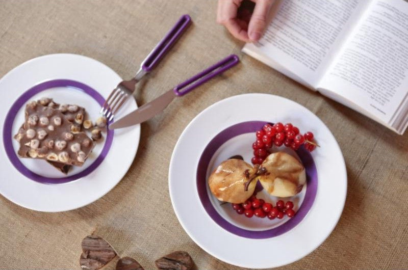 ViceVersa Offset Cutlery Set 4 Purple