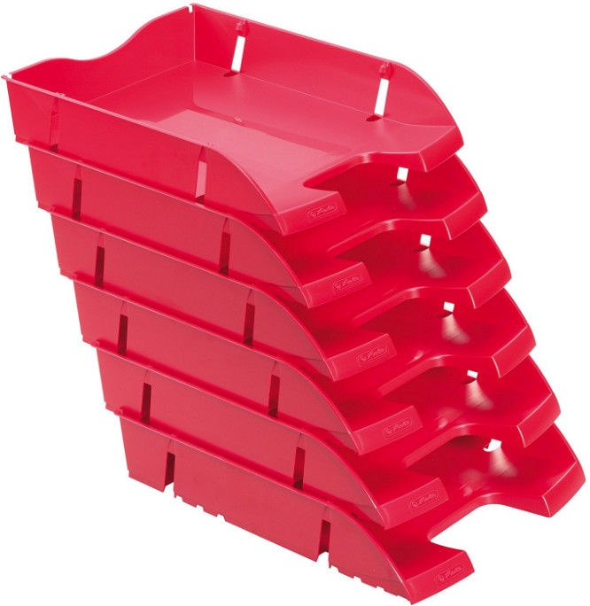 Herlitz Recycle Letter Tray 11247210 Red
