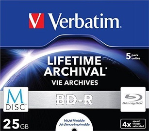 Verbatim M-DISC BD-R 25GB 5pcs Jewel Case