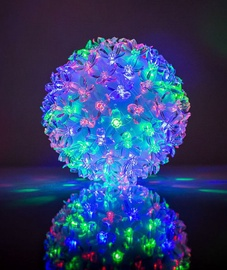 EV LED 100 Ball with Flowers Multi Color D14cm
