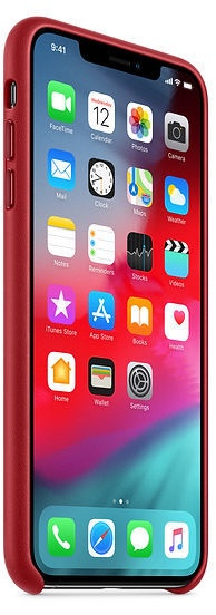 Apple Leather Back Case For Apple iPhone XS Max Product Red