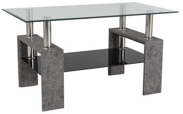 Kafijas galdiņš Signal Meble Modern Lisa III Grey Stone, 1100x600x600 mm