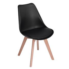 Valgomojo kėdė Frankfurt, juoda