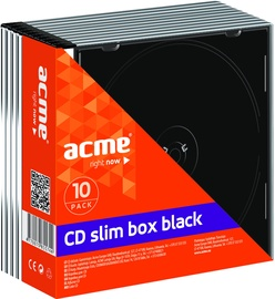Acme CD Boxes 5.2 mm 10 pack Black