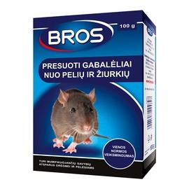 Химическое средство от вредителей Bros Mice/Rat Wax Block 100g