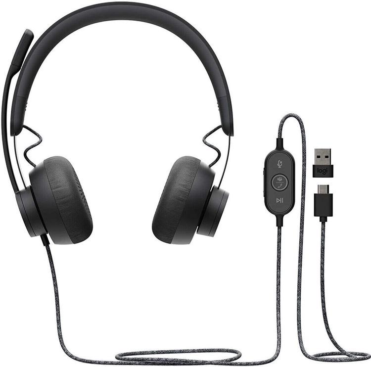 Ausinės Logitech Zone On-Ear Black