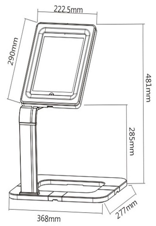 Maclean MC-644 Tablet Desk Stand
