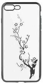 Beeyo Glamour Series Branch Back Case For LG K10 2018 Transparent/Grey