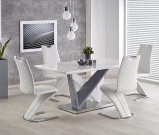 Pusdienu galds Halmar Cortez White/Gray, 1600x900x760 mm