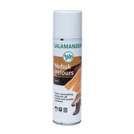 Batų spalvą paryškinanti priemonė Salamander Nubuk Velours Black, 250 ml