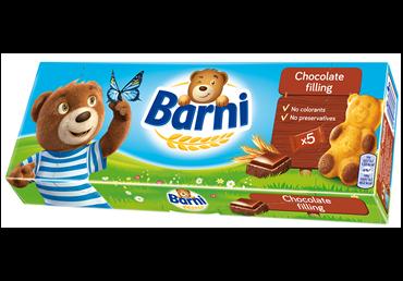 Sausainiai Barni su šokoladiniu įdaru, 150 g, 5 vnt.