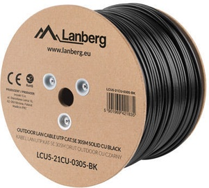 Lanberg Outdoor LAN Cable UTP LCU5-21CU-0305-BK CAT5E 305m Black