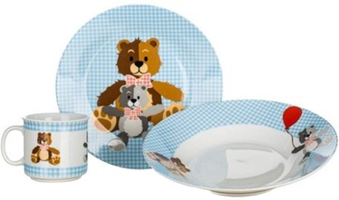 Banquet Teddy Tableware Set 3pcs Blue