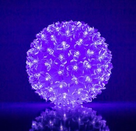 EV LED 100 Ball with Flowers Purple D14cm