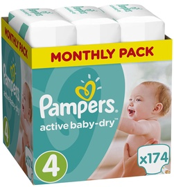 Pampers Active Baby-Dry S4 174