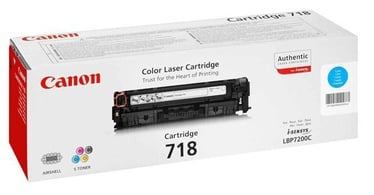 Lazerinio spausdintuvo kasetė Canon 718 Toner Cyan