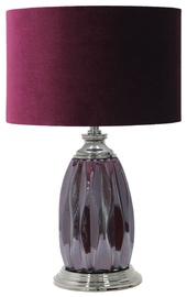 Home4you Luxo Table Lamp 55cm Wine Red
