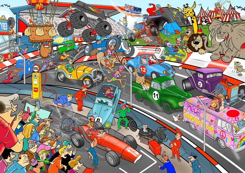 Goliath Thats Life Puzzle Car Race 1000pcs 71425.106