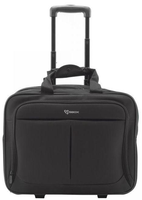 Сумка для ноутбука на колесах Sbox, черный, 17.3″
