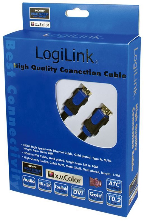 LogiLink Cable HDMI to HDMI  Black 2m