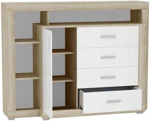 Komoda Tuckano Warsaw Sonoma Oak/White, 1360x1040x400 mm