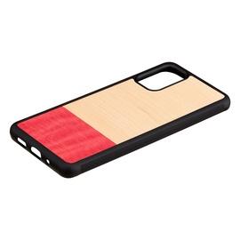 Чехол Man&Wood Galaxy S20+, черный/красный/кремовый