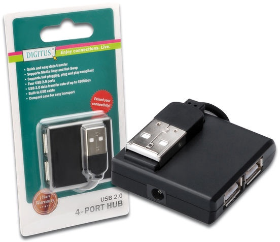 USB-разветвитель (USB-hub) Digitus USB 2.0 High-Speed Hub 4-Port
