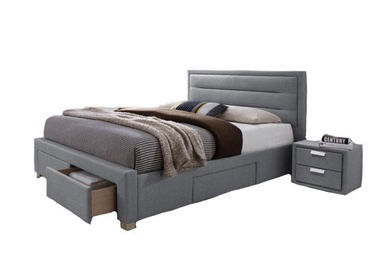 Signal Meble Bed Ines 160x200cm Gray