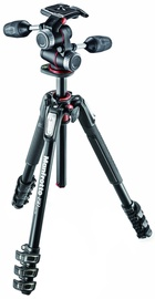 Manfrotto 190 Kit Alu 4s Tripod + 3 Way head