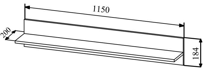 MN Asti APL 1150.1 Shelve Oak