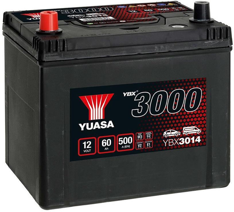 Аккумулятор Yuasa YBX3014, 12 В, 60 Ач, 500 а