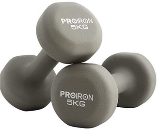 ProIron Neoprene Dumbbell Set Grey 2x5kg