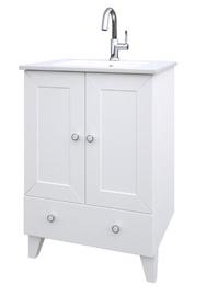 Pastatoma vonios spintelė su praustuvu Raguvos baldai Siesta 171133126, balta