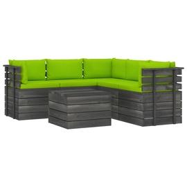 Välimööbli komplekt VLX Piece Garden Pallet Lounge Set 3061910, roheline, 1-4 istekohta
