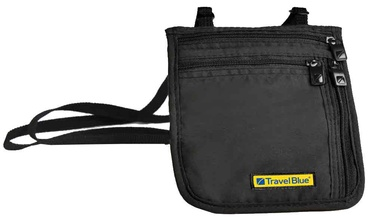 Travel Blue Ultra Slim Neck Wallet Black