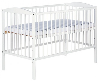 Детская кровать Klups Radek II White, 120x60 см