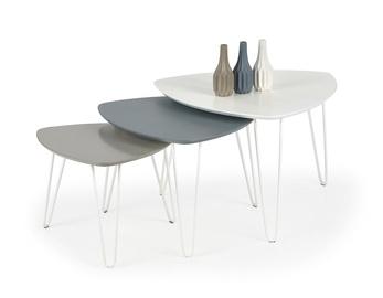 Kavos staliukas Nikita 1 baltas, 75 x 75 x 50 cm