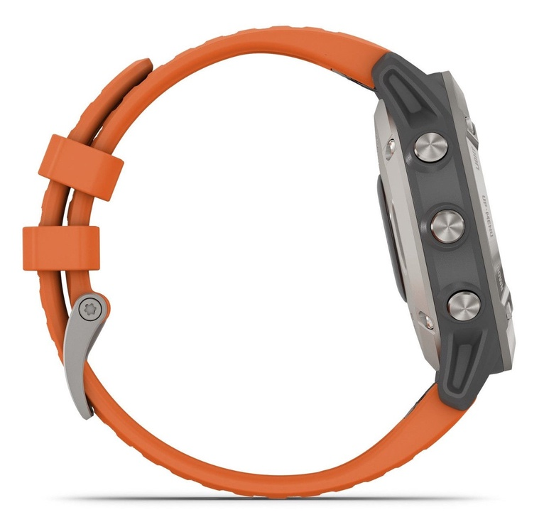 Garmin Fenix 6 Ti Gray with Orange Band with Maps Music