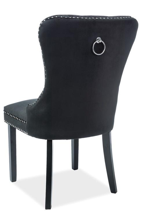 Стул для столовой Signal Meble August Velvet Black, 1 шт.