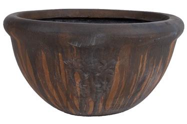 Home4you Lava Flower Pot Dark Brown 38cm