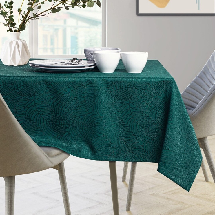 AmeliaHome Gaia Tablecloth HMD Bottle Green 120x260cm