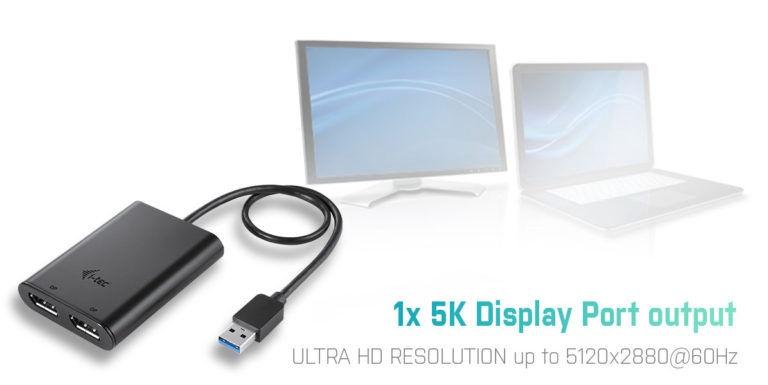 i-Tec USB 3.0 / USB-C Dual 4K DP Video Adapter