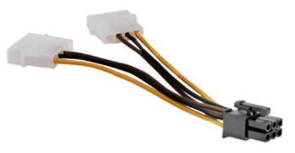 Akasa Adapter Molex x 2 / PCI 6 pin