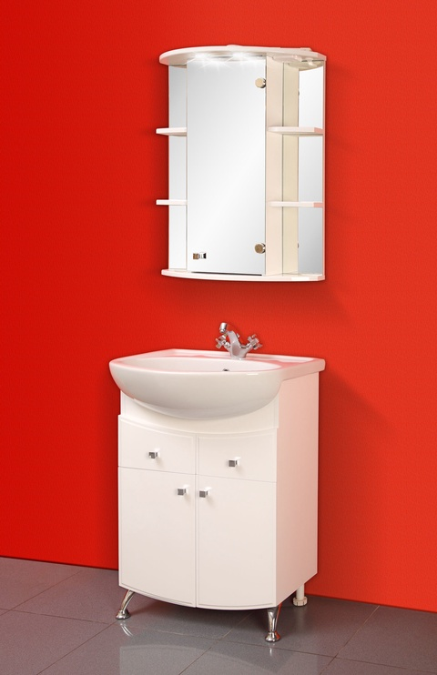 Norta Kvadro 02m Bathroom Cabinet White