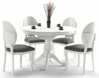 Pusdienu galds Halmar William, balta, 900x900x750mm