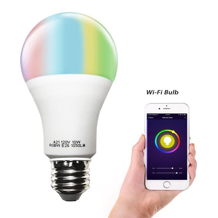 Viedā spuldze A21 LED, E27, A21, 10 W, 1050 lm, daudzkrāsaina