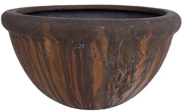 Home4you Lava Flower Pot Dark Brown 48.5cm