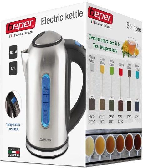 Электрический чайник Beper 90.840, 1.7 л